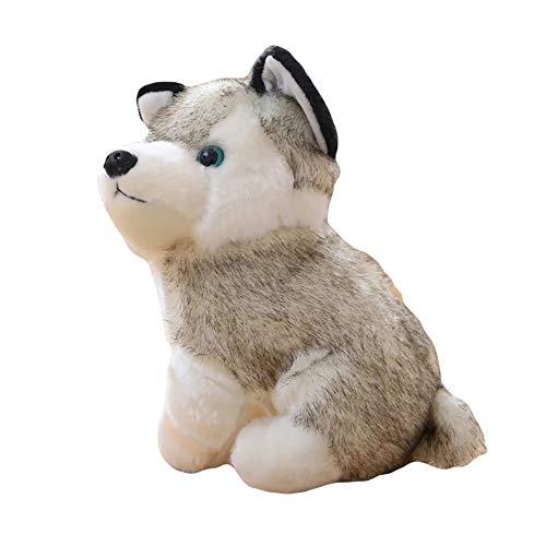 beiguoxia Plüschtier Husky, süßes Plüsch-Spielzeug, Husky, Plüsch-Spielzeug, Welpe, Stofftier für Kinder, Jungen, Mädchen, Puppe für alle Altersgruppen