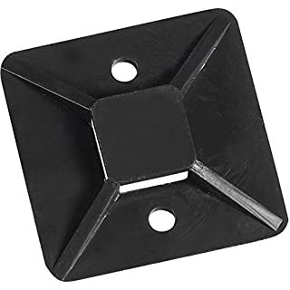 Aviditi CTM33B Cable Tie Mounts, 3/4 x 3/4, Black (Pack of 100) by Aviditi