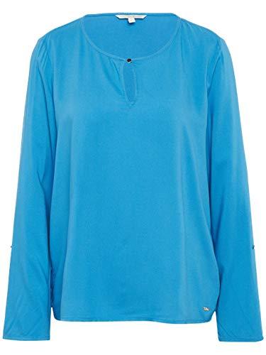 TOM TAILOR Denim Damen Bluse Basic, Größe:S, Farbe:Viola Blue (13727)