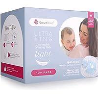 NatureBond Almohadillas de lactancia desechables ultra delgadas, Almohadillas de lactancia materna, ligeras, contorneadas y altamente absorbentes