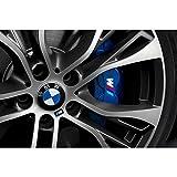 Autodomy BMW Bremsenaufkleber Bremsen Bremssattel Aufkleber Paket 4 Stück für Auto (Weiss)