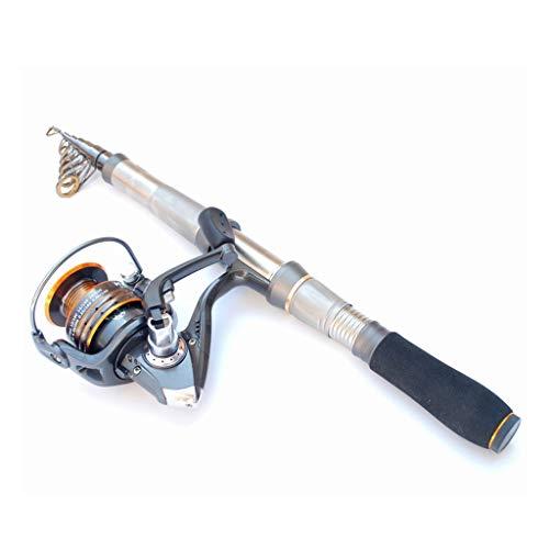 Canne à pêche Sea Rod Super Dur Ultra Léger Engins de pêche Set 3,6 mètres Portable modèle rétractable Plus Roue en métal Pêche