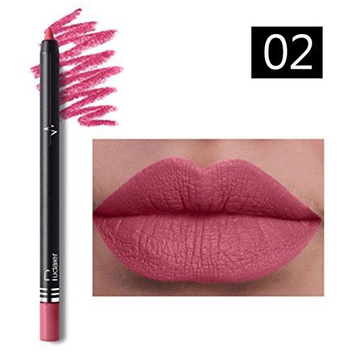 Yogogo 26 Voyage éTanche Couleurs Professionnelle Permanente Crayon Set Lip Liner Crayon Rouge à LèVres Crayon Contour Des LèVres Avec Couvercle Pour Maquillage (2B)
