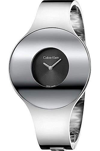 Calvin Klein Damen Analog Quarz Uhr mit Edelstahl Armband K8C2M111