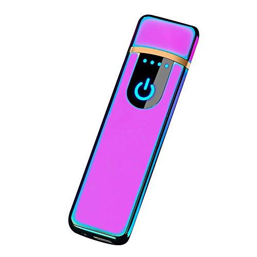 SDGDFXCHN USB-Lade-Feuerzeug mit Touchscreen, elektronischer Zigarettenanzünder, klein, wiederaufladbar, Winddicht, Multi, 81mm*24mm*7mm
