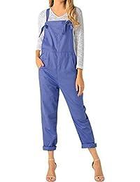 fbafb1cbc Jacansi Women Casual Sleeveless Jumpsuit Playsuit Trousers Pants Pockets  Dungarees UK 6-22