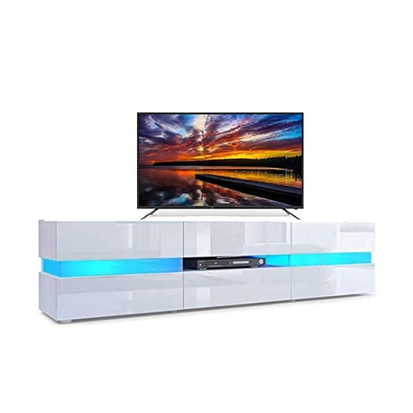 Meuble Tv Avec Led Integree Blanc Home Tresice Deco Royale