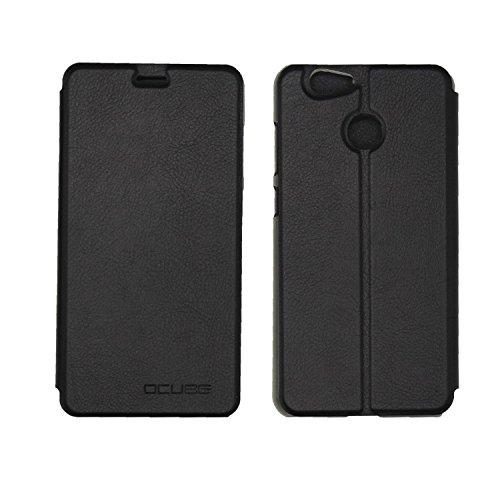 Guran® PU Leder Tasche Etui für Blackview E7 / E7S Smartphone Flip Cover Stand Hülle Case-schwarz
