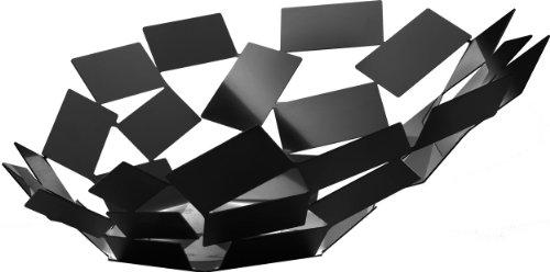 Alessi mt03 b la stanza dello scirocco centrotavola in acciaio colorato con resina epossidica, nero