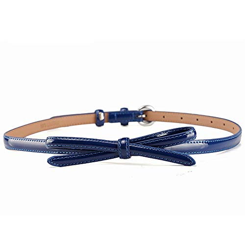 Easy Go Shopping Damen Gürtel Skinny Belt Bow Kette Elastischer Taillenbund Bund Gürtel (Farbe : Blau) Bow Skinny Belt