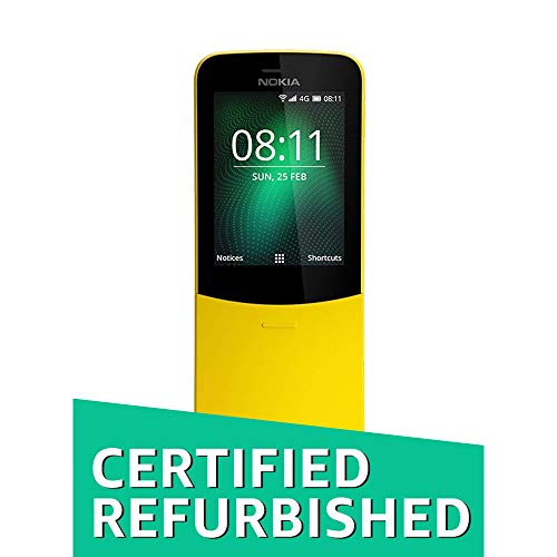 (CERTIFIED REFURBISHED) Nokia 8110 4G Dual Sim Yellow