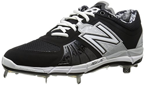 New Balance Men's L3000V2 Metal Low Baseball Shoe,Black/Silver,10 2E US Black/Silver