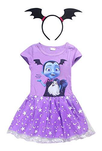Kostüm Vampirina - Vannie Vampirina Mädchen Kopfband Halloween Kostüme für Mädchen von 3 bis 8 Jahren