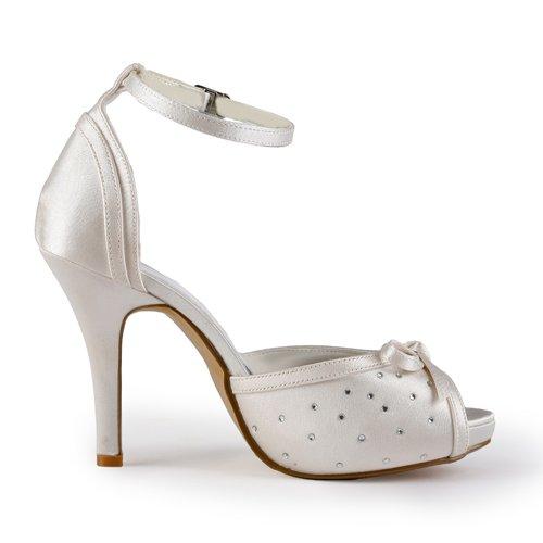 Jia Jia Wedding 37062 chaussures de mariée mariage Escarpins pour femme Beige