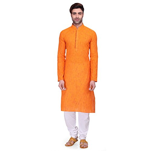RG-Designers-Mens-Full-Sleeve-Kurta-Pyjama-Set-AVHandloomLoops-Orange