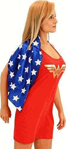 DC Comics Wonder Woman rot & blau Kostüm Tank Kleid mit angehängtem Umhang (Wonder Woman) (Junior Large) (Wonder Woman Kostüme Für Jugendliche)