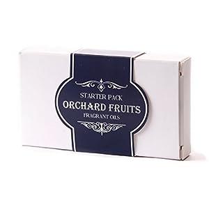 Mystic Moments Duftöl-Basispaket, Orchard Fruits (Gartenfrüchte), 100% rein, 5 x 10 ml Einzeln