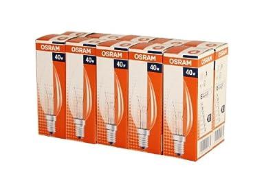 10 x Osram Classic B Glühlampe Glühbirne Kerze 40W E14 klar von Osram - Lampenhans.de