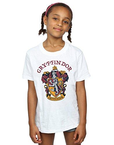 Harry Potter Mädchen Gryffindor Crest T-Shirt Weiß 12-13 Years