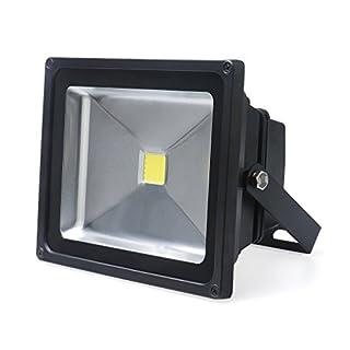 Auralum® MODERN10Year Guarantee 20W LED Flood Light Outdoor Spotlight 1700LUMEN 230V IP653000K Warm White (Grey) 20w Weiß mit Schwarz Rahmen