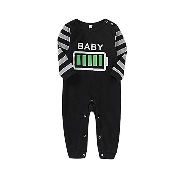 Haokaini Conjunto de Pijamas a Juego de la Familia de Navidad Conjunto de Pijamas de Ropa de Dormir de batería para… 2