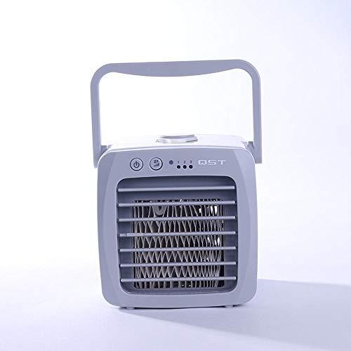 QINBY-Mini-Luftkühler, mobil, Klimaanlagenlüfter, kleiner Lüfter, intelligente Kühlung, Outdoor, tragbar, USB, sehr geeignet für Büro | Camping | zu Hause