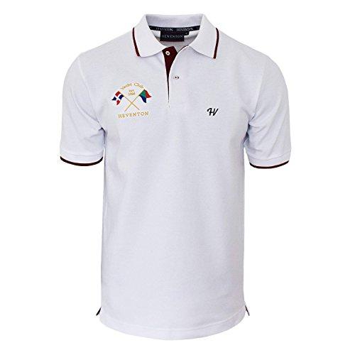 """Preisvergleich Produktbild HEVENTON® Herren Poloshirt kurzarm """"Yacht Club"""" Regular Fit - ÖKO Baumwolle - Hersteller EU - 2120 Color Weiß, Size XXXL"""