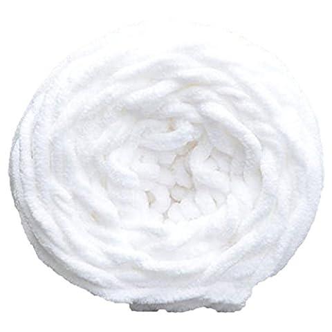 Gemini _ Mall® 100% Acryl Weich Dick Chunky Garn Stricken Garn 100g Wolle, weiß, 100g