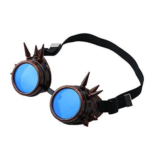 12shage Vintage viktorianische Steampunk Goggles Punk Gothic Cosplay Eyewear (C) -