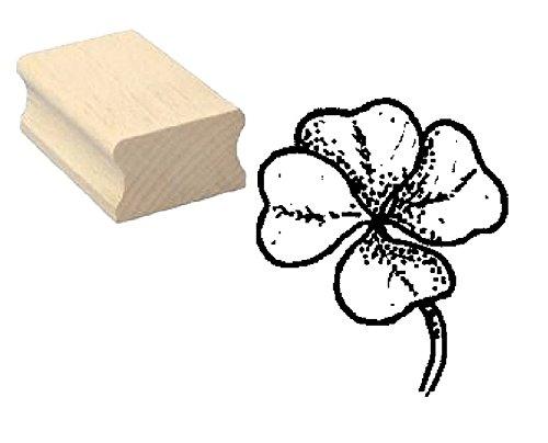 Stempel Holzstempel Motivstempel « KLEEBLATT » Scrapbooking - Pflanze (Stempel Kleeblatt)