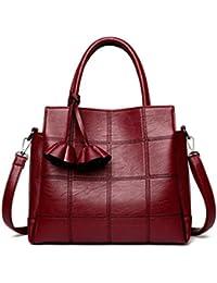 Cuero Pu Mujer bolsas de hombro famoso diseñador Vintage Borla Gran Mujer Señoras bolsas bandoleras Monederos