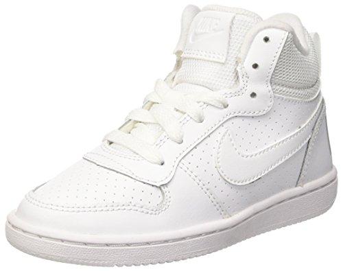 Nike Court Borough Mid Ps, Scarpe da Basket Bambini e Ragazzi, Bianco, 28 1/2 EU