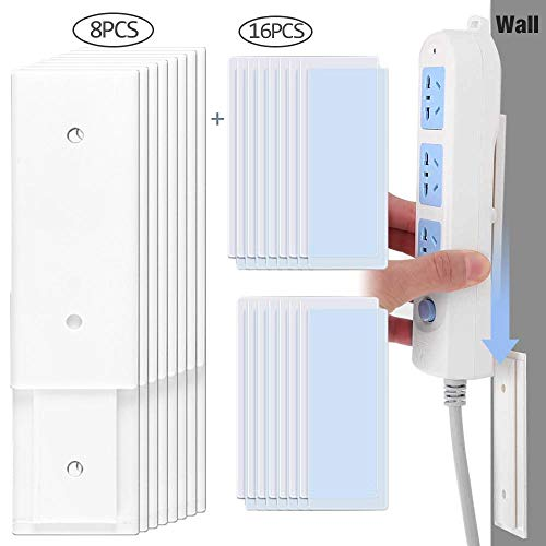 leegoal Mehrfachsteckdosen Selbstklebende Steckdosenleiste zur Wandmontage,einfachste Halterung für Steckdosenleiste/WLAN-Router und Fernbedienung - Outlet-rack Power Strip