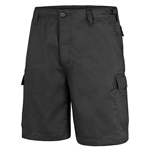 BlackSnake® US Army Ranger Shorts BDU Cargo kurze Hose - M - Schwarz (Bdu Combat Cargo Shorts)