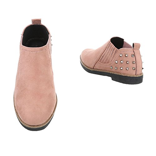 Ital-design Femmes Chaussures Mocassins Slipper Block Heel