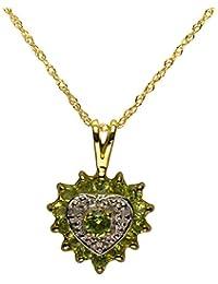 Bijoux pour tous 181P0051-42/9 - Colgante de oro amarillo de 9 quilates con peridoto (.015)