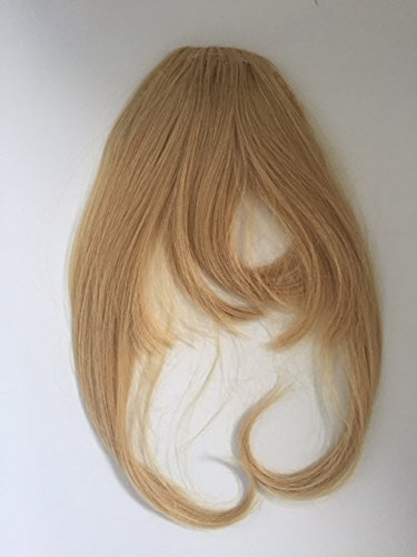Clip en fermeture avant Frange Frange Couleur 27 Blond miel droite 100% Remi Extensions de cheveux humains