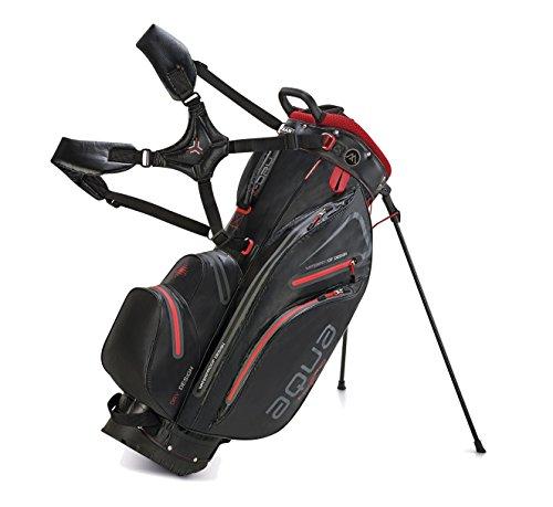 BIG MAX AQUA Hybrid Golf Stand & Cartbag 2018 - 100% Wasserdicht (Black/Red)