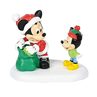 Department 56 Disney Village Accessories Gift from Mickey Figur, Polyresin, Mehrfarbig 2.5