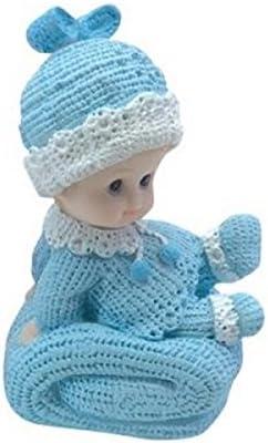Au plaisir des yeux - Sujet Figurine Baptême Bébé garçon sur coussin | Matériaux De Haute Qualité