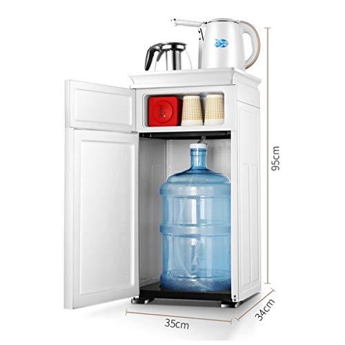 Wasserspender und Instant-Heißwasserspender Weißer, heißer und kalter Wasserspender mit unterer Beladung, 2 Wasserkrügen und 210 ° drehbarem Wasserhahn (größe : Hot and cold water)