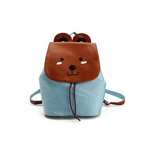 Nikgic Cartoon Schultasche Kinderschultaschen Schulrucksack Rucksack Schulranzen Kinderrucksack aus Polyester Bär