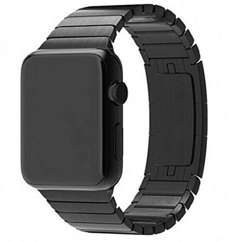 Elobeth Cinturino sostitutivo per Apple Watch, con chiusura magnetica in acciaio INOX, con gancio-adattatore in metallo, articolo sostitutivo adatto ad Apple Watch, edizione Sport - Metallo Link Guarda