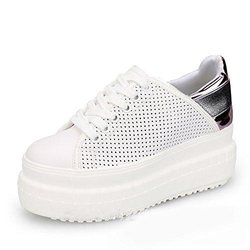 XTIAN , Chaussures à lacets femme Violett,Hohl