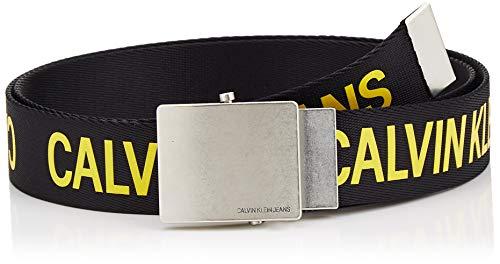 Calvin klein j 4cm military belt cintura, nero (black beauty 016), 7 (taglia produttore: 95) uomo