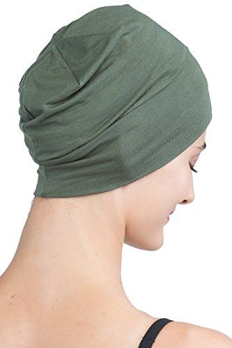 Deresina Headwear Breite Linie Schlafmütze (Khaki)