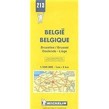 Carte routière : Bruxelles - Oostende - Liège, N° 213