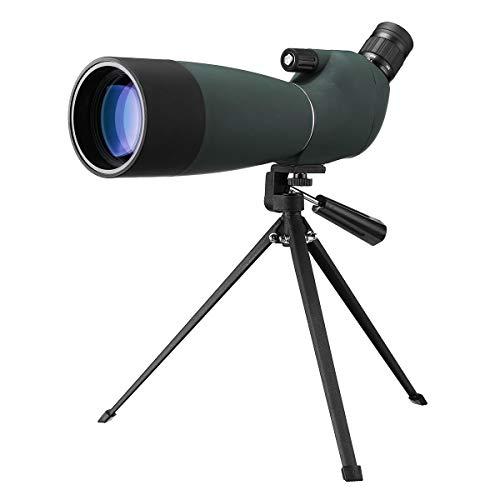 Day Night Vision 25-75X70 HD Wasserdicht BAK4 Optic Zoom Telescope Monocular Water Color Green Film Telescope Spotting Scope with Tripod 75 Night Vision
