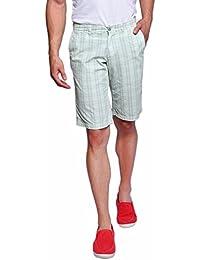 Hammock Men's Large Checked Bermuda Shorts - White/Sea Green