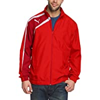 Puma Chaqueta de fútbol sala para hombre, tamaño XL, color rojo - chili pepper - blanco